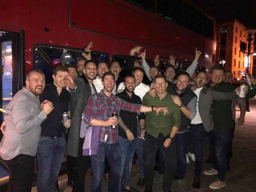 London party bus stag do