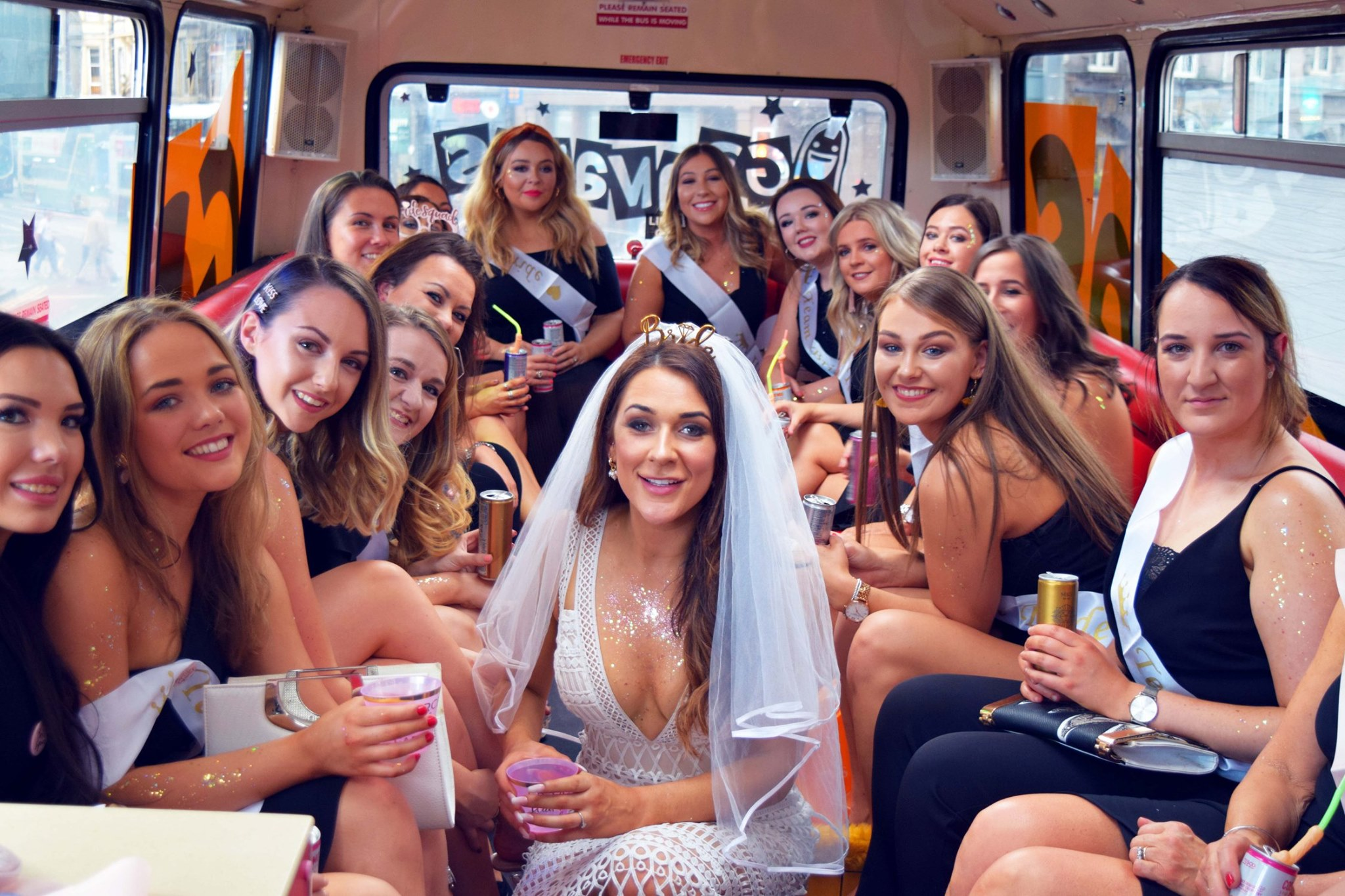 Social distancing party bus London