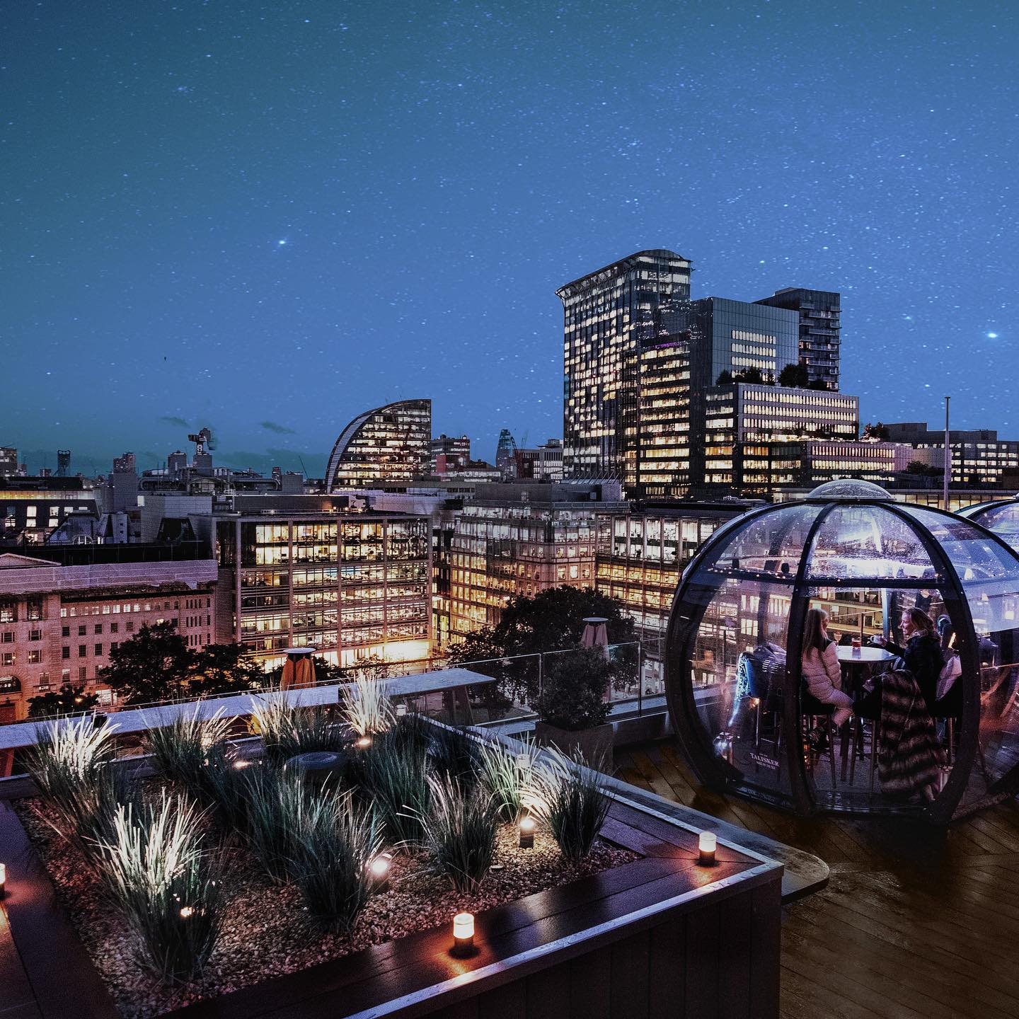 Igloo experience things to do in London at Christmas winter rooftop bar London